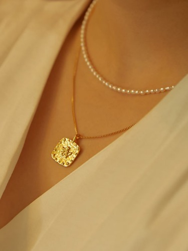 angel necklace [16k gold plating / silver 925]